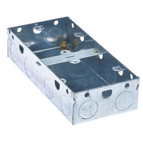 SND Electrical DUAL35 Dual 35mm Metal Box - SND Electrical Ltd