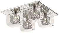 SND Lighting SND205 Paris Flush Light Chrome - SND Electrical Ltd