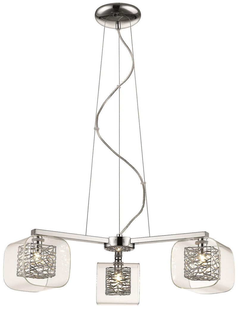 SND Lighting SND207 Paris Suspended Light Chrome - SND Electrical Ltd