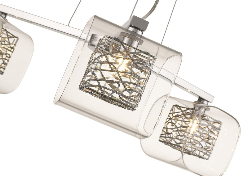 SND207 Paris Suspended Light Chrome