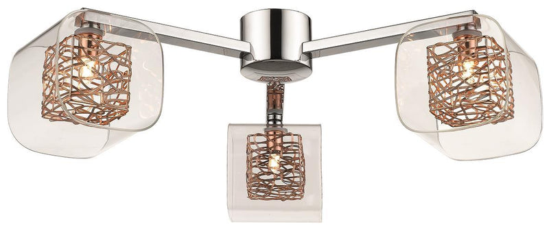SND Lighting SND210 Paris 3 Light Flush Light Copper - SND Electrical Ltd