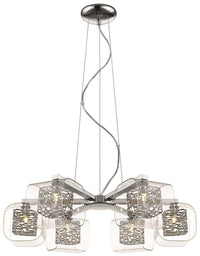 SND Lighting SND211 Paris 6 Light Suspended Ceiling Light Chrome - SND Electrical Ltd