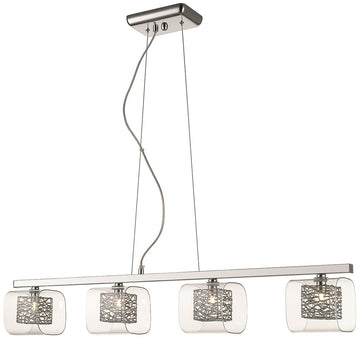 SND Lighting SND215 Paris 4 Light Bar Suspended Light Chrome