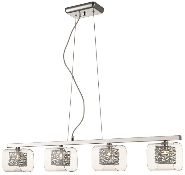 SND Lighting SND215 Paris 4 Light Bar Suspended Light Chrome - SND Electrical Ltd
