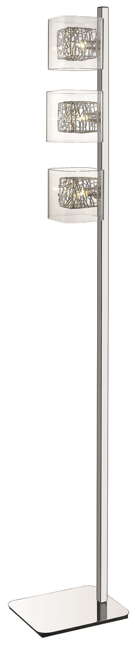 SND Lighting SND217 Paris 3 Light Floor Lamp Chrome - SND Electrical Ltd