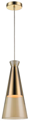 SND Lighting SND228 Kerry Cone Single Pendant Champagne Gold