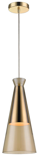 SND Lighting SND228 Kerry Cone Single Pendant Champagne Gold - SND Electrical Ltd