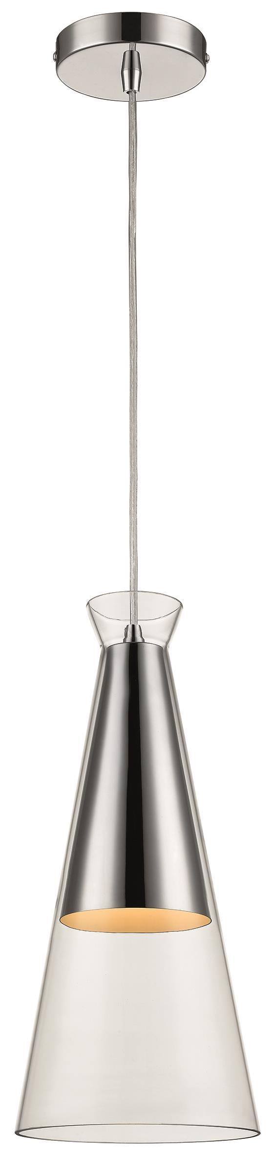 SND Lighting SND229 Kerry Cone Single Pendant Clear - SND Electrical Ltd