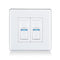 Lightwave Smart Dimmer 2 Gang White