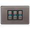 Lightwave Smart Dimmer 3 Gang Stainless Steel