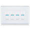 Lightwave Smart Dimmer 4 Gang White Metal