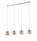 SND Lighting SND238 Luton 4 Light Bar Pendant Copper