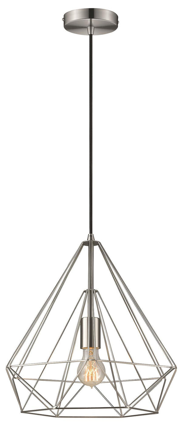 SND Lighting SND245 Molly Single Pendant Satin Nickel - SND Electrical Ltd