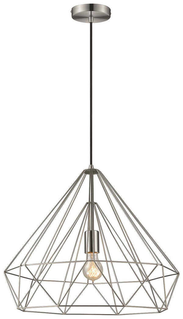 SND Lighting SND248 Molly Single Pendant Satin Nickel - SND Electrical Ltd