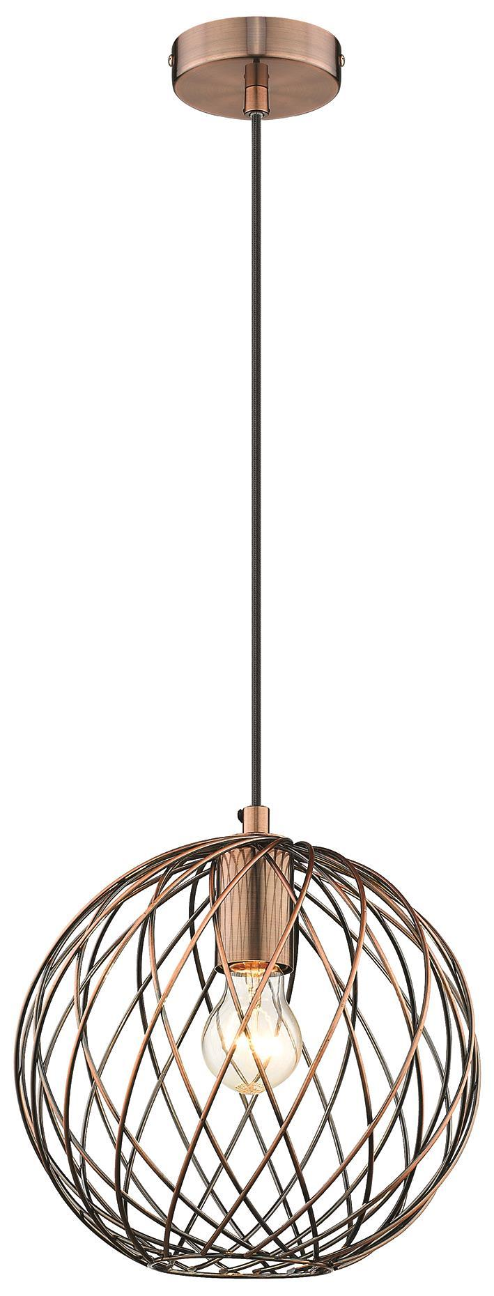 SND Lighting SND251 Martin Single Pendant Antique Copper - SND Electrical Ltd