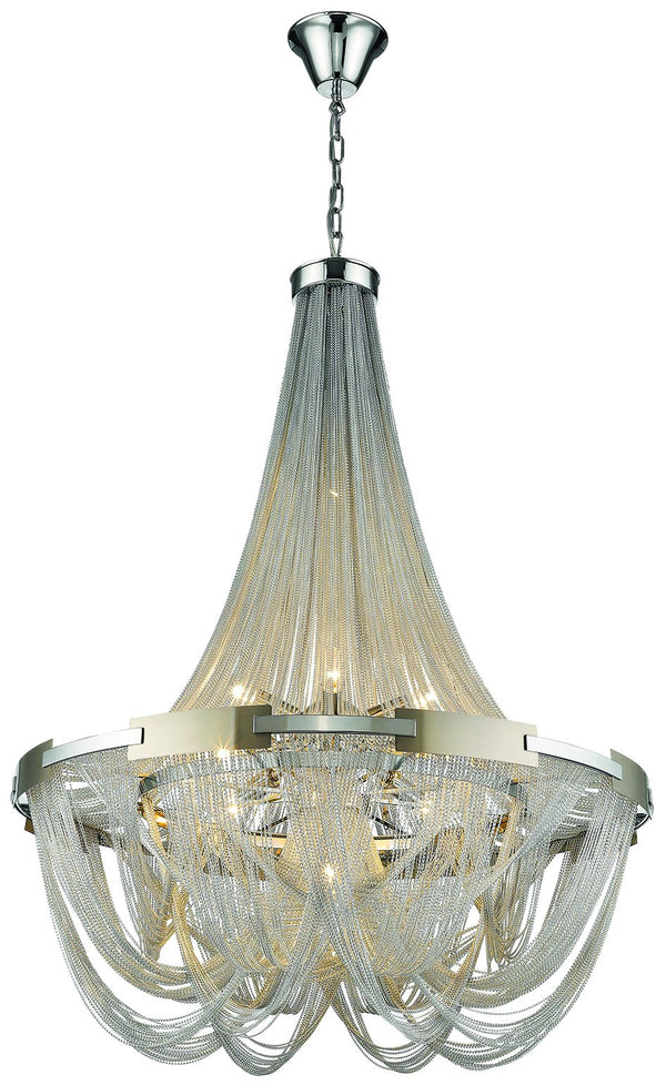 SND Lighting SND257 Norton Suspended Ceiling Light Silver - SND Electrical Ltd