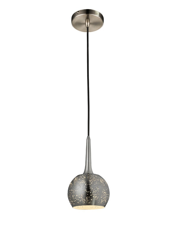 *SHOWROOM EX-DISPLAY* CDS0014 200mm Single Pendant Satin Nickel - SND Electrical Ltd