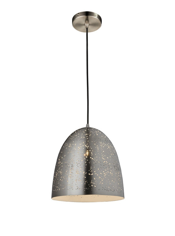 *SHOWROOM EX-DISPLAY* CDS0015 300mm Single Pendant Satin Nickel - SND Electrical Ltd