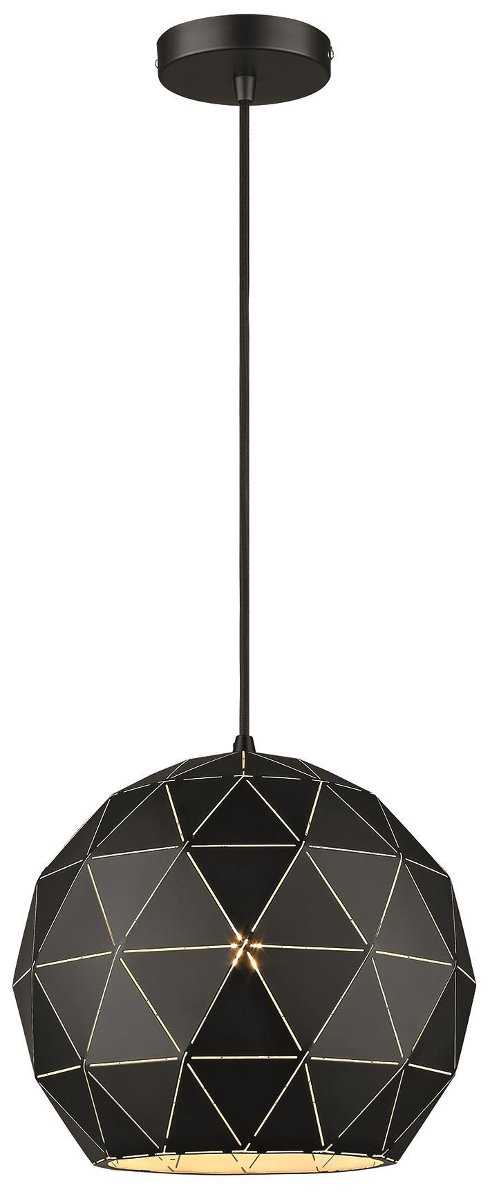 SND Lighting SND262 Palm Single Pendant Matt Black - SND Electrical Ltd