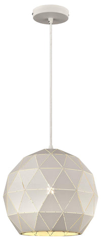 SND Lighting SND263 Palm Single Pendant White - SND Electrical Ltd