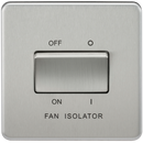 Knightsbridge SF1100BC Screwless 10A 3 Pole Fan Isolator Switch Brushed Chrome - SND Electrical Ltd