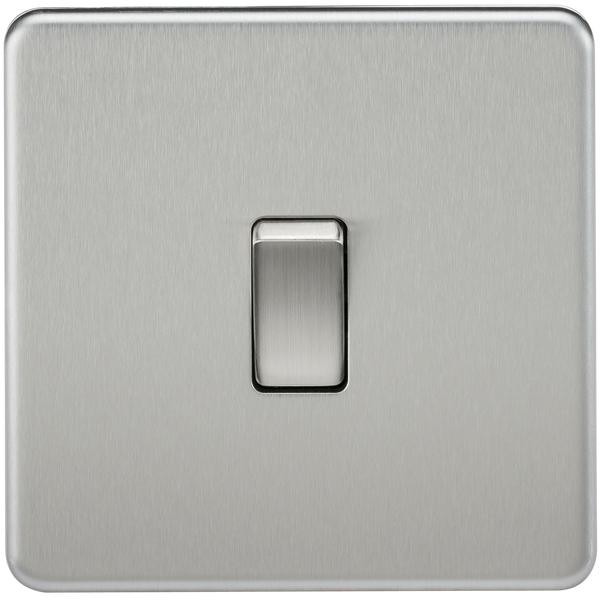 Knightsbridge SF1200BC Screwless 10A 1G Intermediate Switch Brushed Chrome - SND Electrical Ltd