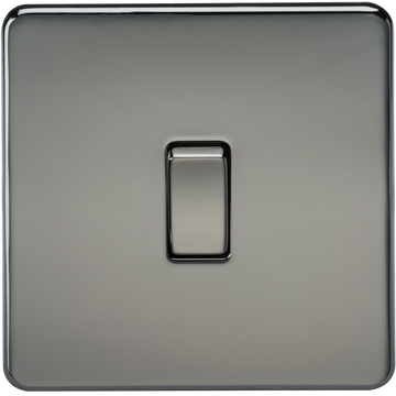 Screwless 10A 1G 2-Way Switch Black Nickel MLA