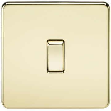 Screwless 10A 1G 2-Way Switch Polished Brass MLA