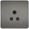 Screwless 5A Unswitched Socket Black Nickel MLA