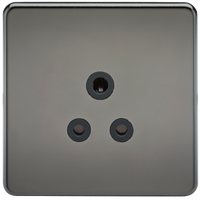 Screwless 5A Unswitched Socket Black Nickel MLA - SND Electrical Ltd
