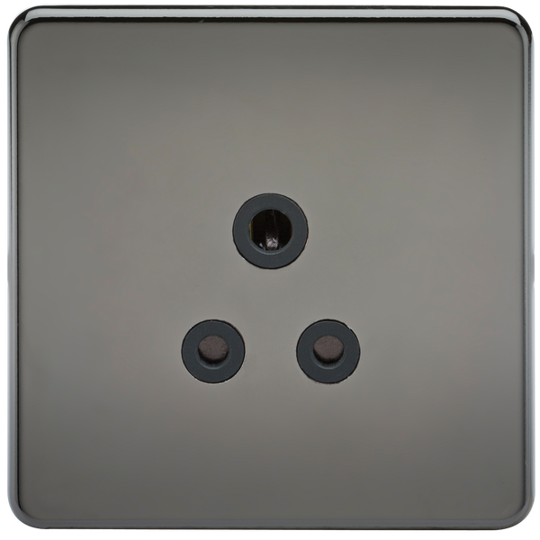 Knightsbridge SF5ABN Screwless 5A Unswitched Socket Black Nickel MLA - SND Electrical Ltd