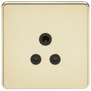 Knightsbridge SF5APB Screwless 5A Unswitched Socket Polished Brass MLA - SND Electrical Ltd