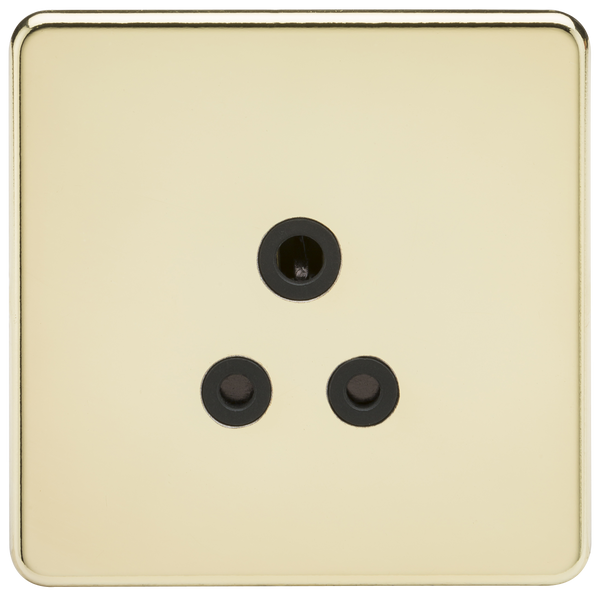 Screwless 5A Unswitched Socket Polished Brass MLA - SND Electrical Ltd