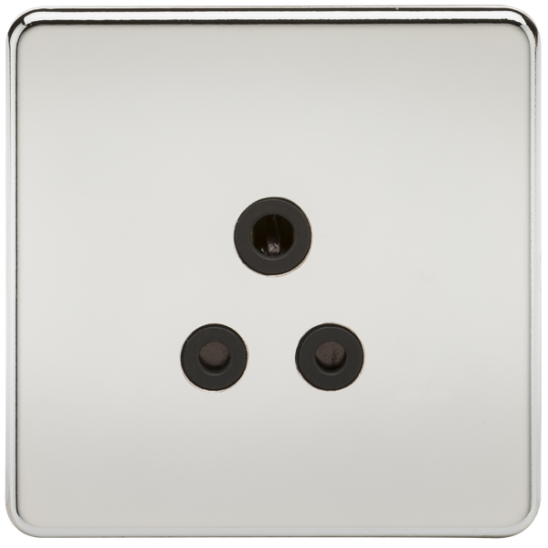 Knightsbridge SF5APC Screwless 5A Unswitched Socket Polished Chrome MLA - SND Electrical Ltd