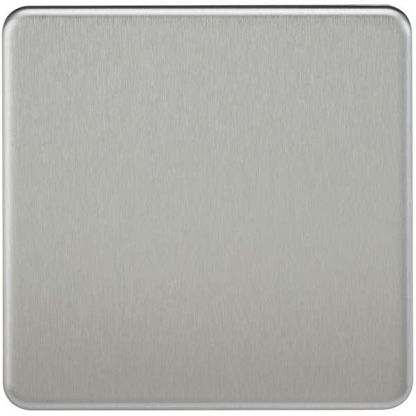 Knightsbridge SF8350BC Screwless 1G Blank Plate Brushed Chrome - SND Electrical Ltd