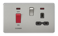 45A Dp Switch & 13A Switched Socket Brushed Chrome MLA