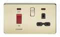 45A Dp Switch & 13A Switched Socket Polished Brass MLA