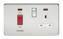 Knightsbridge SFR8333NPC 45A Dp Switch & 13A Switched Socket Polished Chrome MLA - SND Electrical Ltd