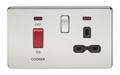 45A Dp Switch & 13A Switched Socket Polished Chrome MLA