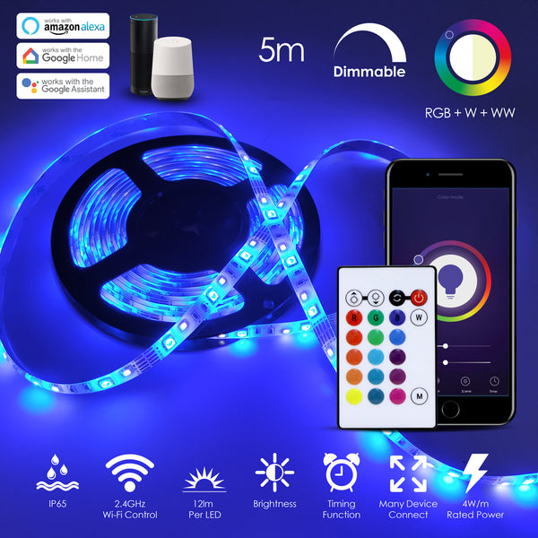 Ener J Smart Wi-Fi RGB+CCT Changing LED Tape Kit