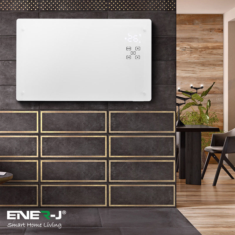 Ener-J WiFi Smart Heater 2000W White Tempered Glass