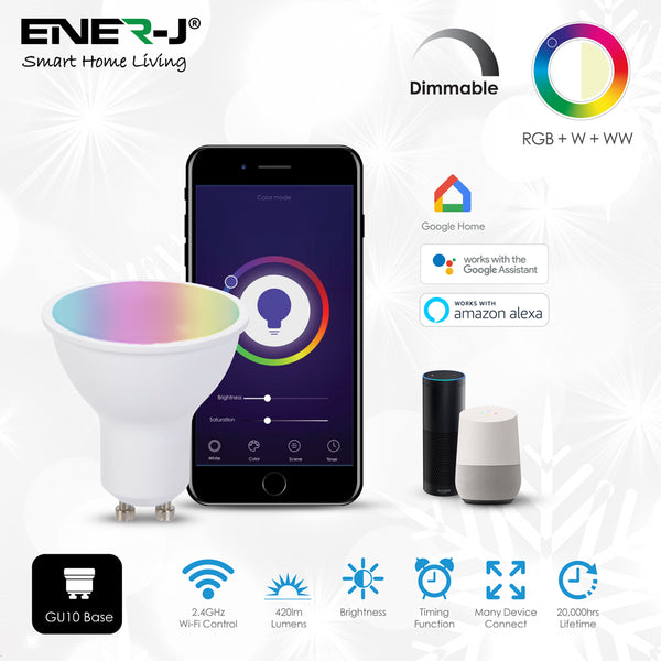 Ener J Smart WiFi 5W GU10 LED Spotlight