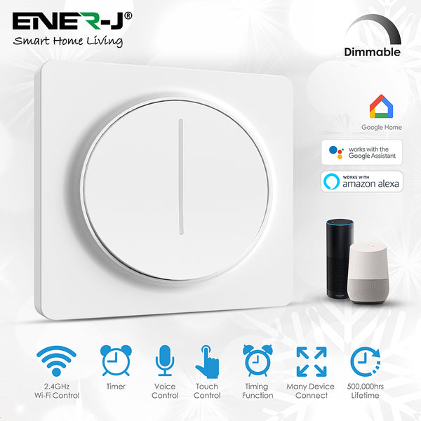 Ener-J Smart Wi-Fi 1 Gang Dimmable Touch Switch