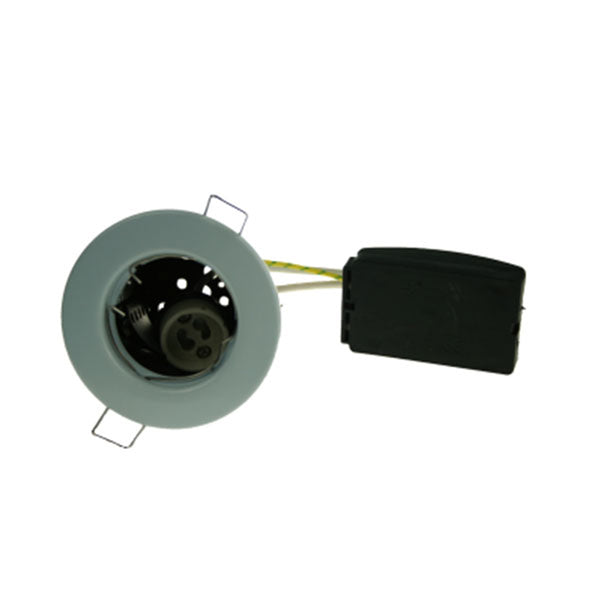 Fire Rated Downlight GU10 Fixed - Chrome Pressed - SND Electrical Ltd