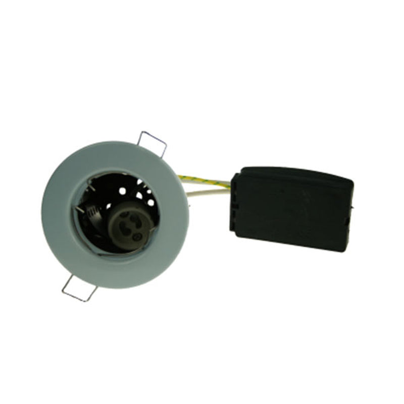 Fire Rated Downlight SUN102SC GU10 Fixed - Chrome Pressed - SND Electrical Ltd