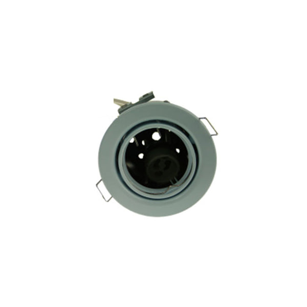 Fire Rated Downlight SUN107SC GU10 Tilt - White Pressed - SND Electrical Ltd