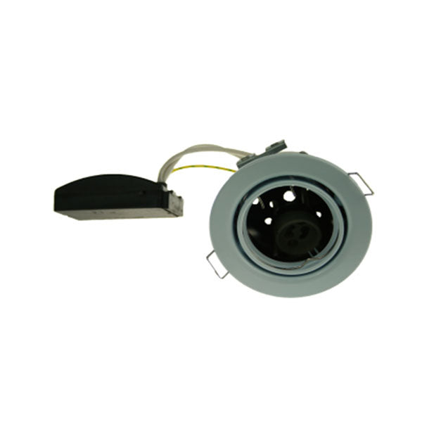 Fire Rated Downlight SUN108SC GU10 Tilt - Chrome Pressed - SND Electrical Ltd
