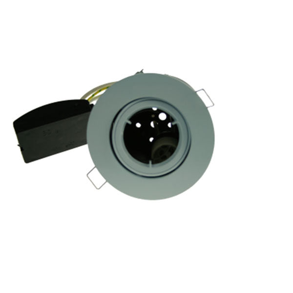 Fire Rated Downlight GU10 Tilt - White Die-Cast - SND Electrical Ltd