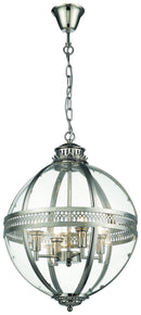 SND Lighting SND285 Winston Multi Light Pendant Nickel - SND Electrical Ltd
