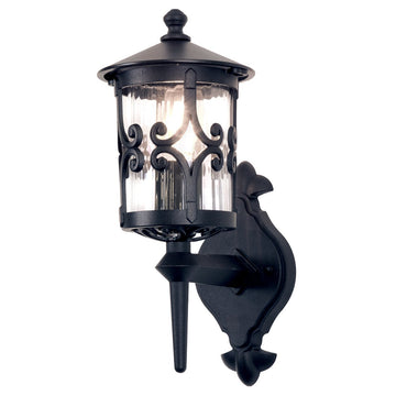 Elstead Lighting BL10 BLACK Hereford 1 Light Wall Light